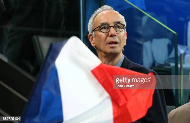 Jean PisaniFerry attends the campaign rally of French presidential candidate Emmanuel Macron at AccorHotels Arena on April 17 2017 in Paris France