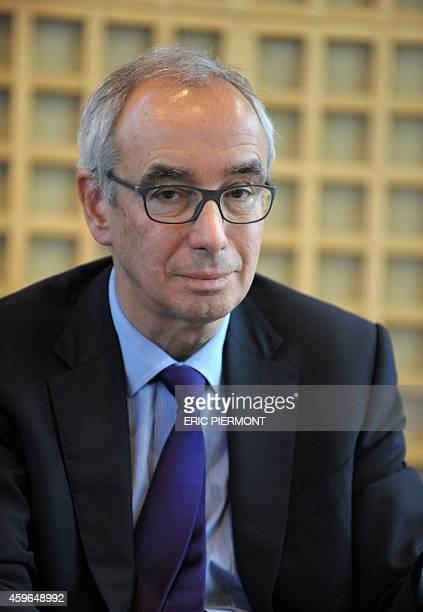 Jean PisaniFerry Commissioner General of the French General Commission for Strategy and Economic Foresight poses during a press conference with...