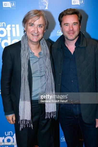 Jean Plantureux alias Plantu and Guillaume de Tonquedec attend the 'Un profil pour deux' Paris Premiere at Cinema UGC Normandie on March 27 2017 in...