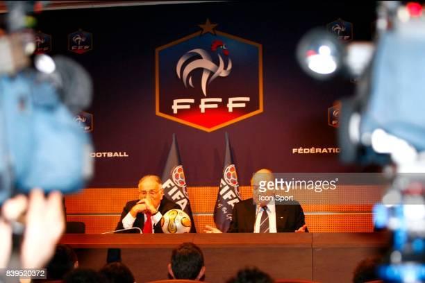 Jean Prierre ESCALETTES / Sepp BLATTER Inauguration des nouveaux locaux de l'instance nationale FFF