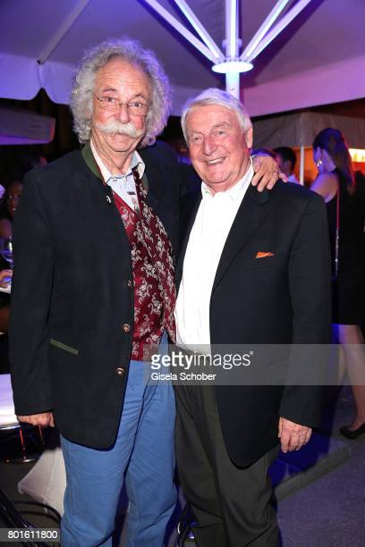 MUNICH GERMANY JUNE 26 Jean Puetz and Egon Geerkens during the Movie meets Media Party during the Munich Film Festival on June 26 2017 in Munich...