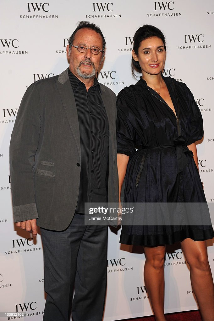 Jean Reno and Zofia Borucka attend IWC and Tribeca Film Festival Celebrate 'For the Love of Cinema' on April 18, 2013 in New York City.