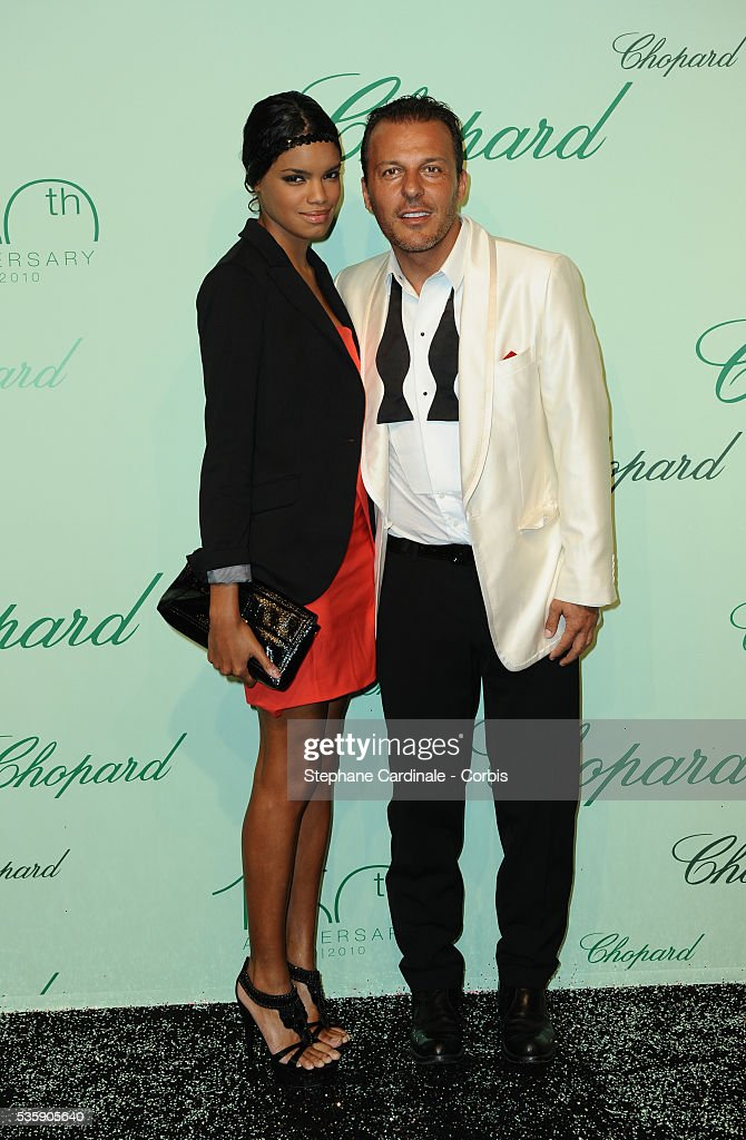 Jean Roch and guest at the 'Chopard 150th Anniversary Party' during the 63rd Cannes International Film Festival.