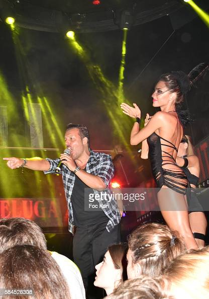 Jean Roch Pedri and dancers attend the Kungs DJ Party At VIP Room Saint Tropez on July 28 2016 in SaintTropez France