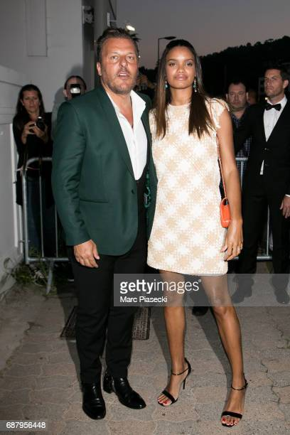 Jean Roch Pedri and wife Anais Monory are spotted during the 70th annual Cannes Film Festival at the 'Vanity Fair CHANEL' dinner at Tetou restaurant...