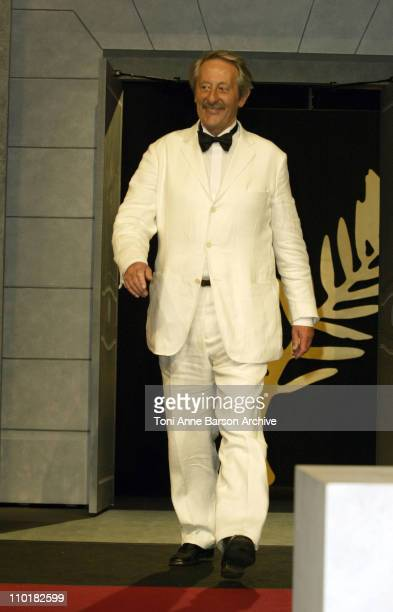 Jean Rochefort during 2003 Cannes Film Festival Closing Ceremony Show at Palais des Festivals in Cannes France