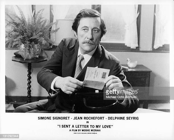 Jean Rochefort opening piece of paper in a scene from the film 'I Sent A Letter To My Love' 1980