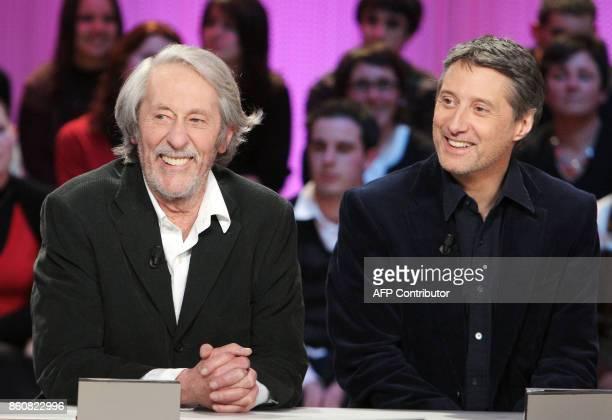 Jean Rochefort président de la cérémonie des César qui seront décernés le 22 février 2008 au théâtre du Châtelet à Paris et l'animateur Antoine de...