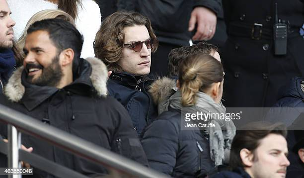 Jean Sarkozy attends the French Ligue 1 match between Paris SaintGermain FC and Stade Malherbe Caen at Parc des Princes stadium on February 14 2015...