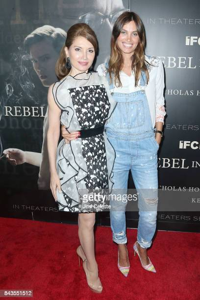 Jean Shafiroff and Alina Puscau attend 'Rebel in the Rye' screening and after party hosted by Jean Shafiroff and IFC Films at Metrograph on September...