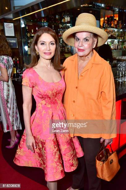 Jean Shafiroff and Ann Rapp attend Bastille Day Party Hosted by Jean Shafiroff at Le Cirque on July 13 2017 in New York City