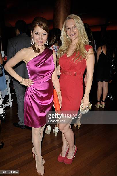 Jean Shafiroff and Consuelo Vanderbilt Costin attends Harboring Hearts' 2nd annual Summer Soiree at Rubin Museum of Art on June 23 2014 in New York...