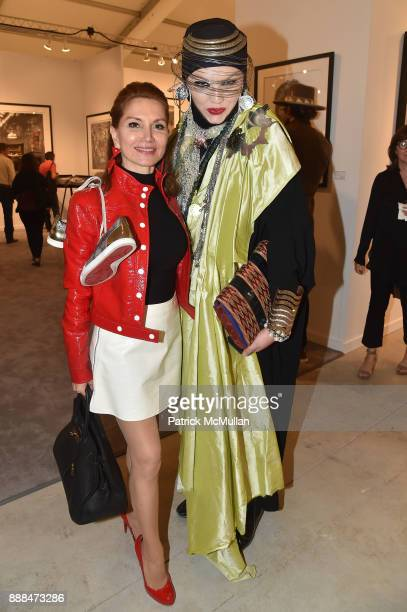 Jean Shafiroff and Daniel Lismore attend Art Miami VIP Preview at Art Miami Pavilion on December 6 2017 in Miami Beach Florida