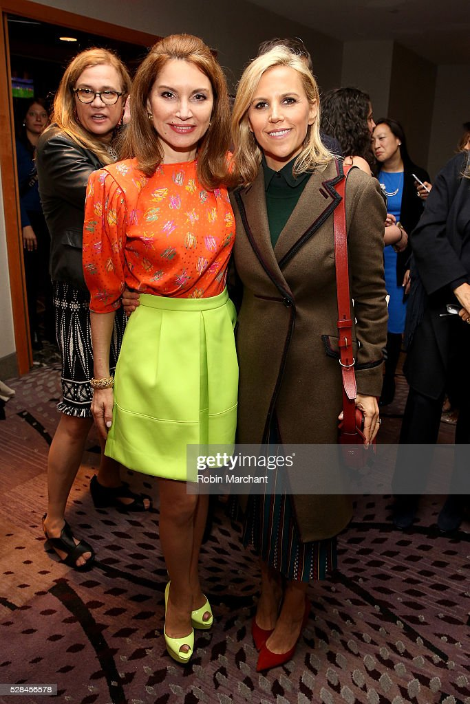 Jean Shafiroff and designer Tory Burch attend The New York Women's Foundation's 2016 celebration womens breakfast on May 5, 2016 in New York City.