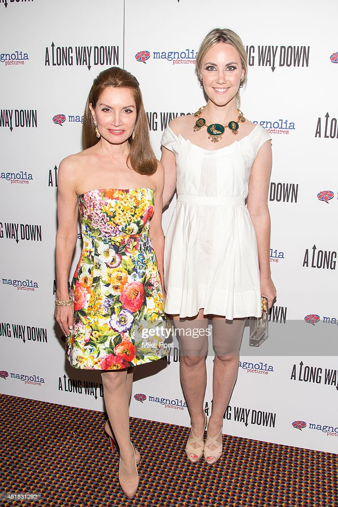 Jean Shafiroff and Elizabeth Kurpis attend the 'A Long Way Down' New York premiere at City Cinemas 123 on June 30, 2014 in New York City.