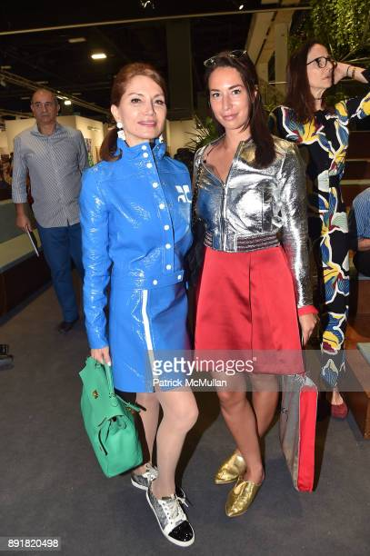 Jean Shafiroff and Jara Ghadri attend Art Basel Miami Beach Private Day at Miami Beach Convention Center on December 6 2017 in Miami Beach Florida