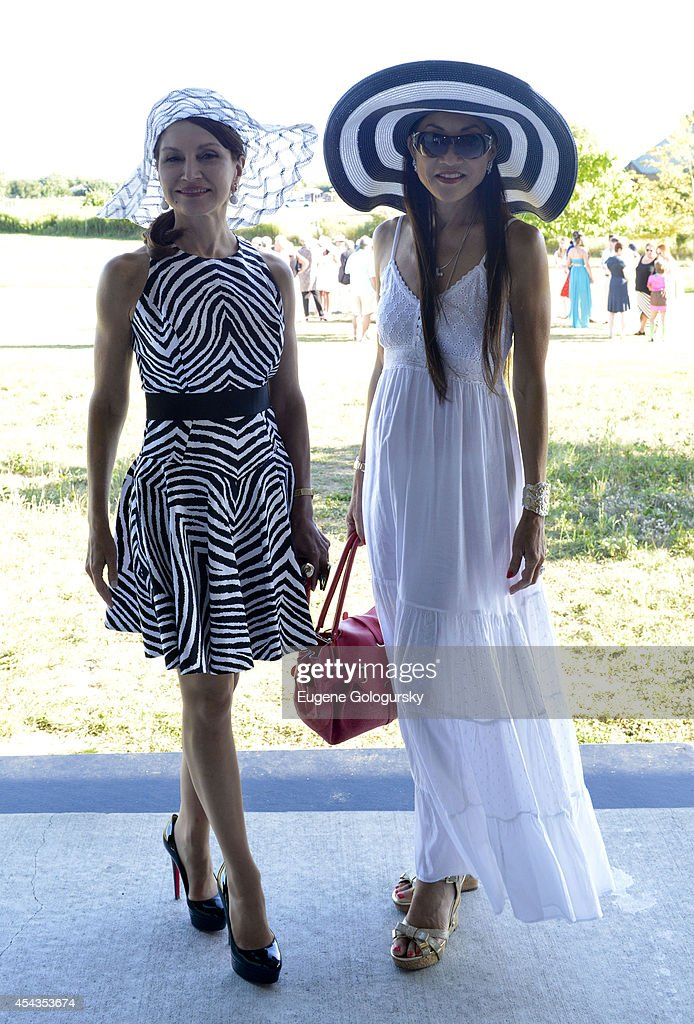 Jean Shafiroff and Lucia Hwong Gordon attend the Naming Celebration For Stewart F. Lane & Bonnie Comley Event Lawn at the Parrish Art Museum on August 29, 2014 in Water Mill, New York.