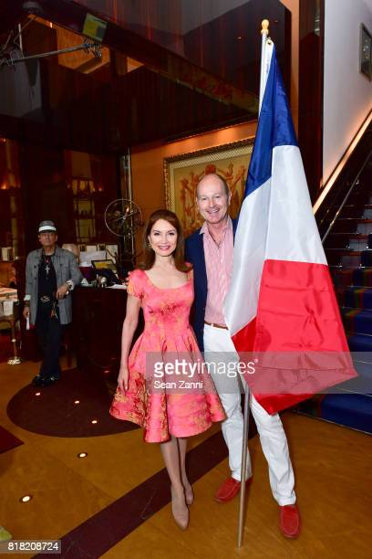 Jean Shafiroff and Prince Dimitri of Yugoslavia attend Bastille Day Party Hosted by Jean Shafiroff at Le Cirque on July 13 2017 in New York City