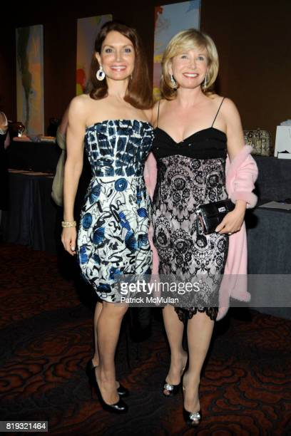 Jean Shafiroff and Sharon Bush attend NEW YORKERS FOR CHILDREN Spring Dinner Dance Presented by AKRIS at The Mandarin Oriental on April 8 2010 in New...