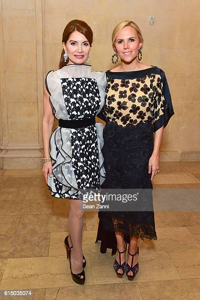 Jean Shafiroff and Tory Burch attend The New York Women's Foundation's 2016 Fall Gala at The Plaza on October 13 2016 in New York City