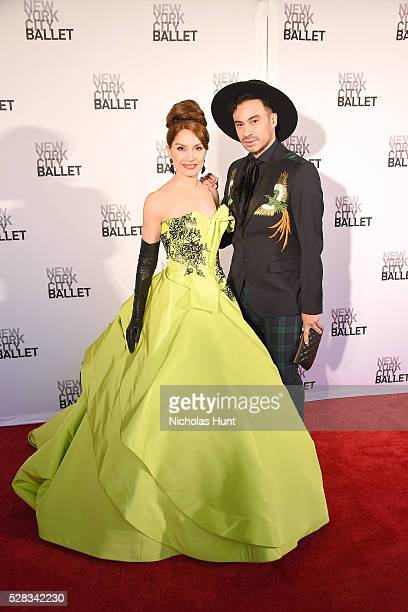 Jean Shafiroff and Victor de Souza attend New York City Ballet's Spring Gala at David H Koch Theater at Lincoln Center on May 4 2016 in New York City...