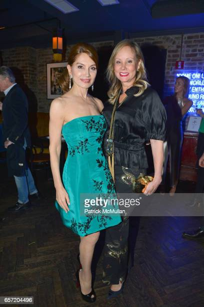 Jean Shafiroff and Yaz Hernandez attend Jean Shafiroff hosts Surprise Party for Patrick McMullan at 49 West 20th Street on March 17 2017 in New York...