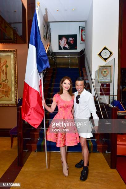 Jean Shafiroff and Zang Toi attend Bastille Day Party Hosted by Jean Shafiroff at Le Cirque on July 13 2017 in New York City