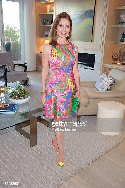 Jean Shafiroff attends Hamptons Magazine and Harbor's Edge celebrate designer Bradley Stephenson event August 27 2015 in Sag Harbor New York