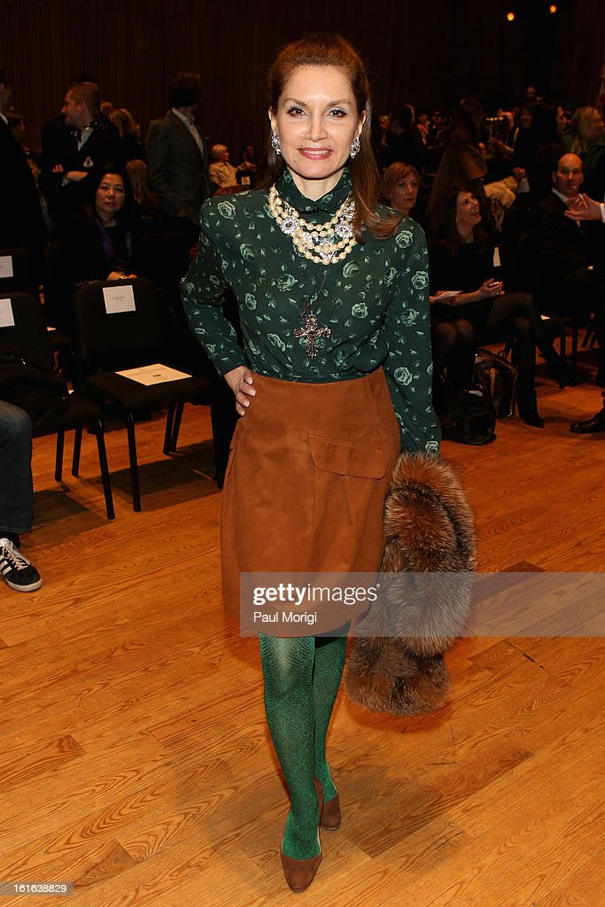Jean Shafiroff attends the Douglas Hannant Fall 2013 Collection during Mercedes-Benz Fashion Week at Dimenna Center for Classical Music on February 13, 2013 in New York City.