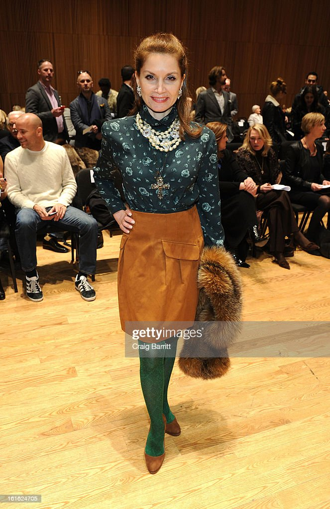 Jean Shafiroff attends the Douglas Hannant fall 2013 fashion show during Mercedes-Benz Fashion Week>> at the Dimenna Center for Classica Music on February 13, 2013 in New York City.