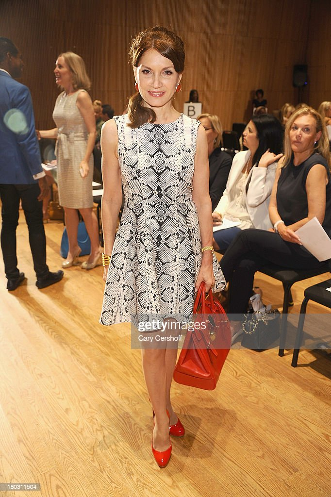 Jean Shafiroff attends the Douglas Hannant show during Spring 2014 Mercedes-Benz Fashion Week at DiMenna Center on September 11, 2013 in New York City.