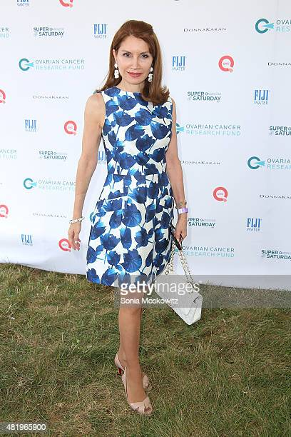 Jean Shafiroff attends the Ovarian Cancer Research Fund's Super Saturday NY at Nova's Ark Project on July 25 2015 in Water Mill New York