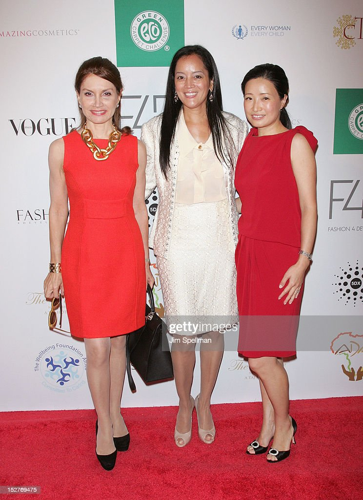 Jean Shafiroff, Cassandra Seidenfeld and guest attend the 2nd Annual Fashion 4 Development First Ladies Luncheon at The Pierre Hotel on September 25, 2012 in New York City.