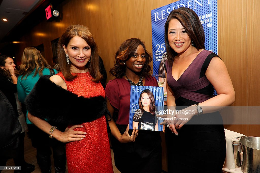 Jean Shafiroff, Delaina Dixon and Melissa Lee attend the Resident Magazine November cover issue featuring Melissa Lee at B & Co on November 11, 2013 in New York City.