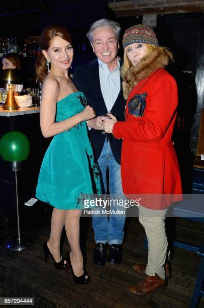 Jean Shafiroff Geoffrey Bradfield and Maggie Norris attend Jean Shafiroff hosts Surprise Party for Patrick McMullan at 49 West 20th Street on March...