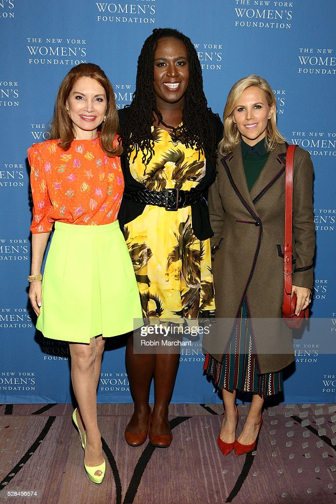 Jean Shafiroff, honoree Cherno Biko and designer Tory Burch attend The New York Women's Foundation's 2016 celebration womens breakfast on May 5, 2016 in New York City.