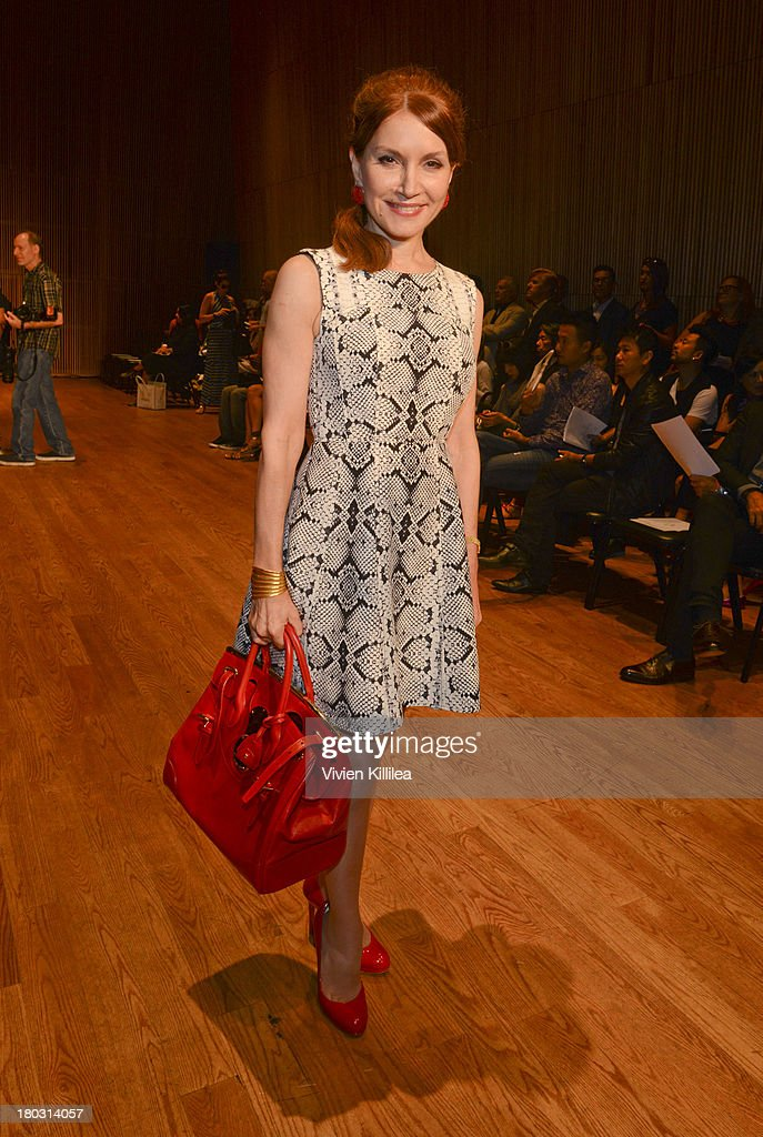 Jean Shafiroff is seen on the front row at the Douglas Hannant fashion show during Mercedes-Benz Fashion Week Spring 2014 on September 11, 2013 in New York City.