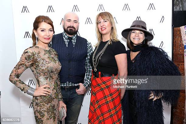 Jean Shafiroff Jason Lyon Bridgette Morphew and Iris Dankner attend Jean Shafiroff and Morphew host Fashion Event at Holiday House to benefit the...