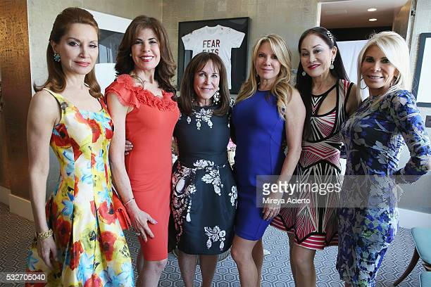 Jean Shafiroff Lauren Roberts Andrea Stark Ramona Singer Lucia Hong and Andrea WarshawWernick attend the The Samuel Waxman Cancer Research Foundation...