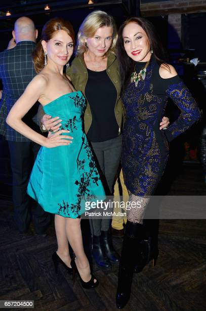 Jean Shafiroff Liliana Cavendish and Lucia Hwong Gordon attend Jean Shafiroff hosts Surprise Party for Patrick McMullan at 49 West 20th Street on...