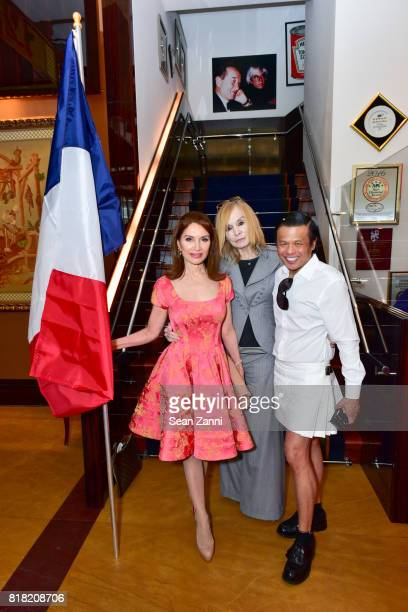 Jean Shafiroff Maggie Norris and Zang Toi attend Bastille Day Party Hosted by Jean Shafiroff at Le Cirque on July 13 2017 in New York City
