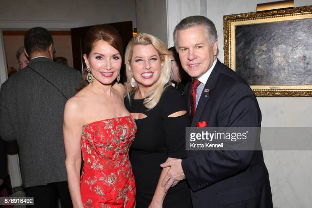 Jean Shafiroff Rita Cosby and Tomaczek Bednarek attend Martin Shafiroff and Jean Shafiroff Host Thanksgiving Cocktails for NYC Mission Society at...