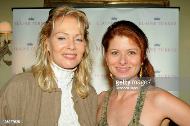 Jean Smart and Debra Messing during HBO Luxury Lounge Day 1 at Peninsula Hotel in Beverly Hills California United States