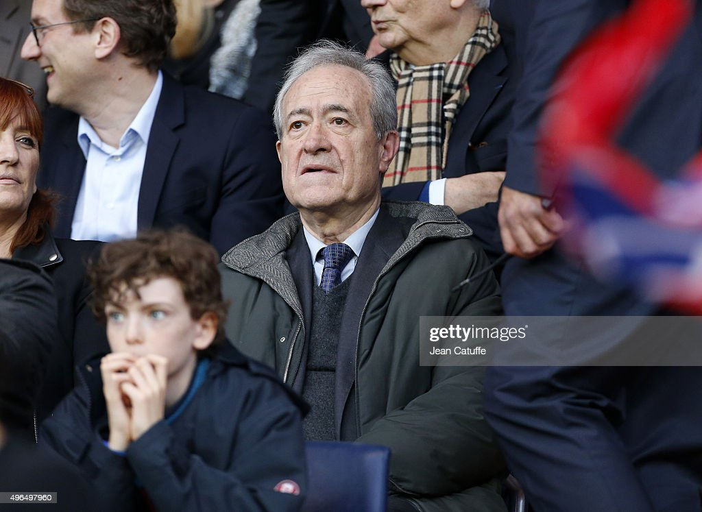 <a gi-track='captionPersonalityLinkClicked' href=/galleries/search?phrase=Jean+Tiberi&family=editorial&specificpeople=2365255 ng-click='$event.stopPropagation()'>Jean Tiberi</a> attends the French Ligue 1 match between Paris Saint-Germain (PSG) and Toulouse FC (TFC) at Parc des Princes stadium on November 7, 2015 in Paris, France.