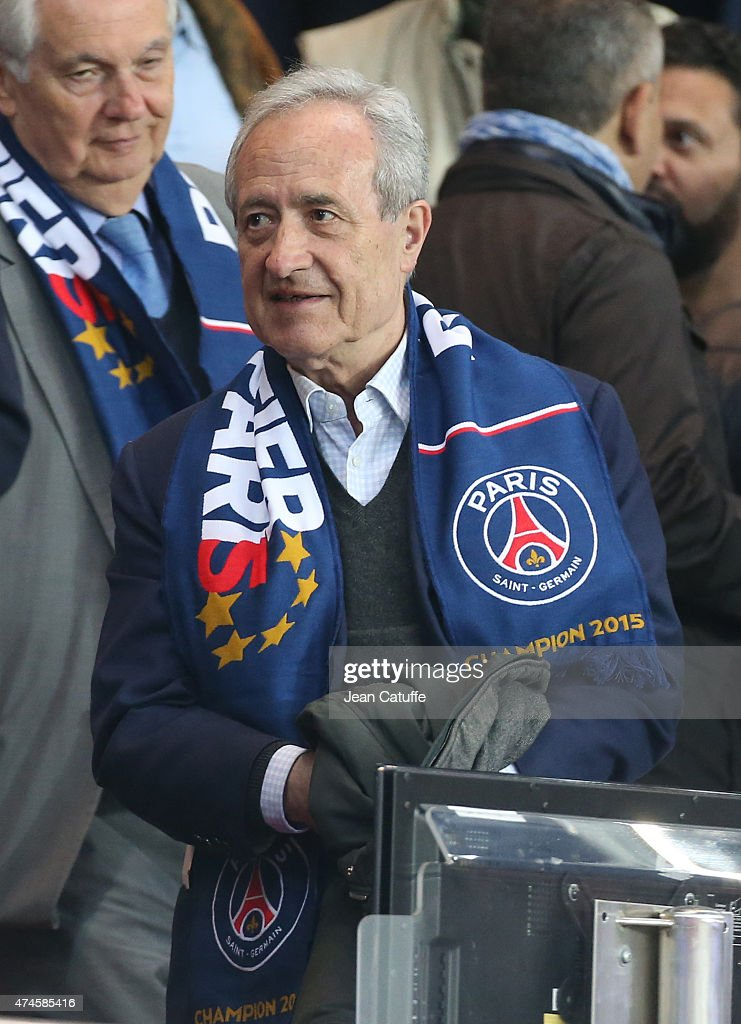 <a gi-track='captionPersonalityLinkClicked' href=/galleries/search?phrase=Jean+Tiberi&family=editorial&specificpeople=2365255 ng-click='$event.stopPropagation()'>Jean Tiberi</a> attends the French Ligue 1 match between Paris Saint-Germain (PSG) and Stade de Reims at Parc des Princes stadium on May 23, 2015 in Paris, France.