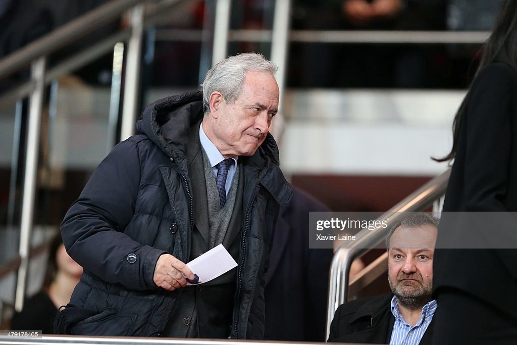 <a gi-track='captionPersonalityLinkClicked' href=/galleries/search?phrase=Jean+Tiberi&family=editorial&specificpeople=2365255 ng-click='$event.stopPropagation()'>Jean Tiberi</a> attends the French Ligue 1 match between Paris Saint-Germain FC and AS Saint-Etienne at Parc Des Princes on March 16, 2014 in Paris, France.