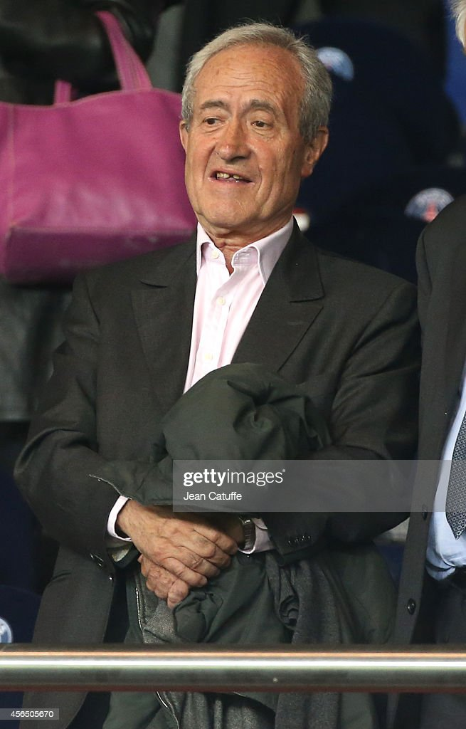 <a gi-track='captionPersonalityLinkClicked' href=/galleries/search?phrase=Jean+Tiberi&family=editorial&specificpeople=2365255 ng-click='$event.stopPropagation()'>Jean Tiberi</a> attends the UEFA Champions League Group F match between Paris Saint-Germain FC and FC Barcelona at the Parc des Princes stadium on September 30, 2014 in Amsterdam, Netherlands.