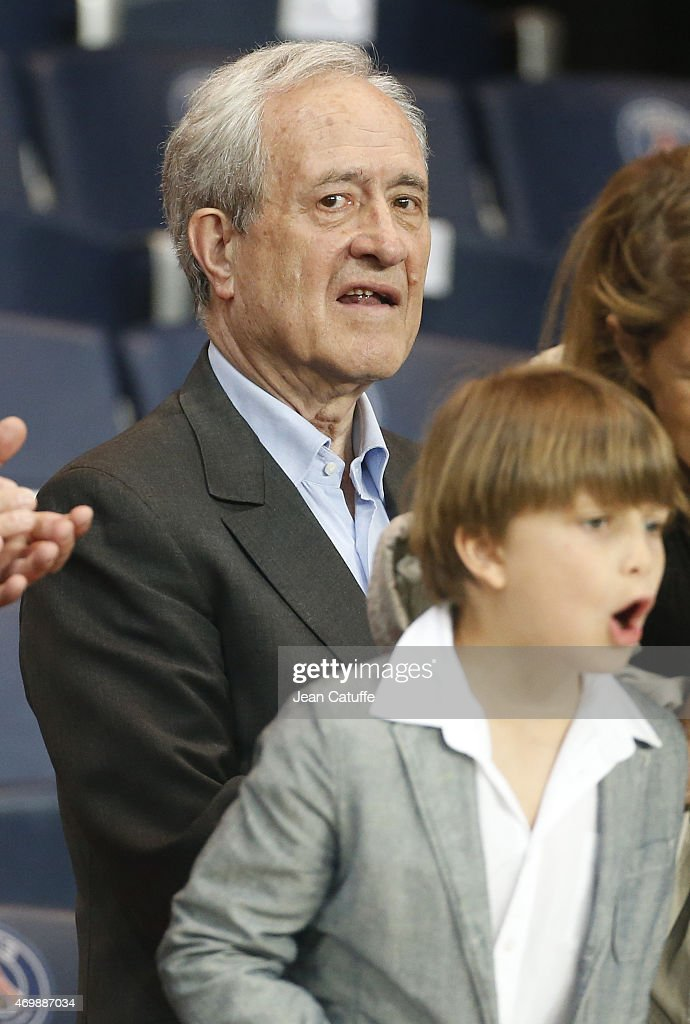 <a gi-track='captionPersonalityLinkClicked' href=/galleries/search?phrase=Jean+Tiberi&family=editorial&specificpeople=2365255 ng-click='$event.stopPropagation()'>Jean Tiberi</a> attends the UEFA Champions League quater final first leg match between Paris Saint-Germain (PSG) and FC Barcelona at Parc des Princes stadium on April 15, 2015 in Paris, France.