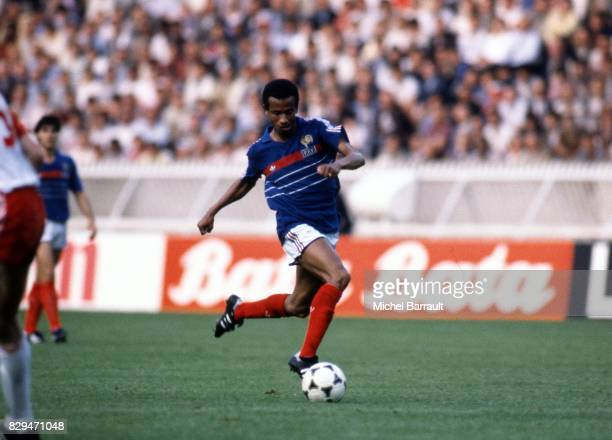 Jean Tigana of France during the European Championship match between France and Denmark at Parc des Princes Paris France on 12th June 1984