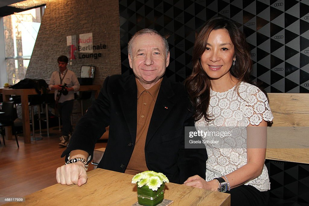 <a gi-track='captionPersonalityLinkClicked' href=/galleries/search?phrase=Jean+Todt&family=editorial&specificpeople=206323 ng-click='$event.stopPropagation()'>Jean Todt</a> and <a gi-track='captionPersonalityLinkClicked' href=/galleries/search?phrase=Michelle+Yeoh&family=editorial&specificpeople=223894 ng-click='$event.stopPropagation()'>Michelle Yeoh</a> attend the AUDI Lounge at the Marlene Dietrich Platz during day 4 of the Berlinale International Film Festival on on February 9, 2014 in Berlin, Germany.